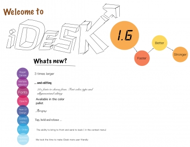 New in iDesk 1-6 preview