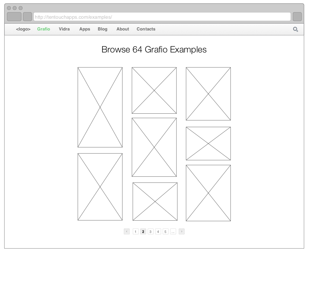 Wireframe, Examples, Ten Touch, Grafio