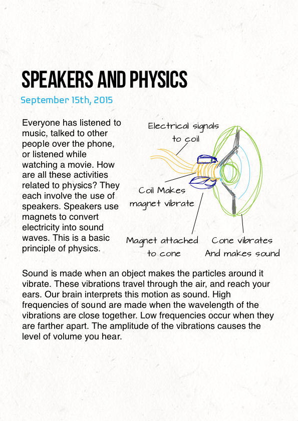 Speakers and Physics